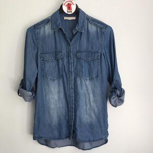 MICHAEL Michael Kors Blue Button Down Shirt